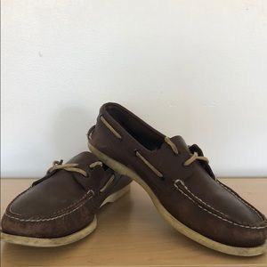 Size 11 Sperry Top Sider boat shoes. Color: Brown